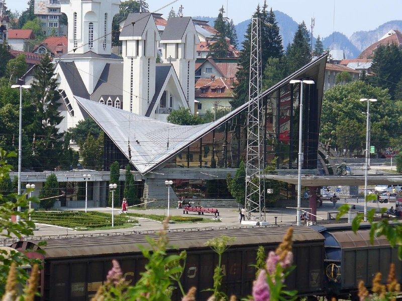 Вокзал на курорте Предял.