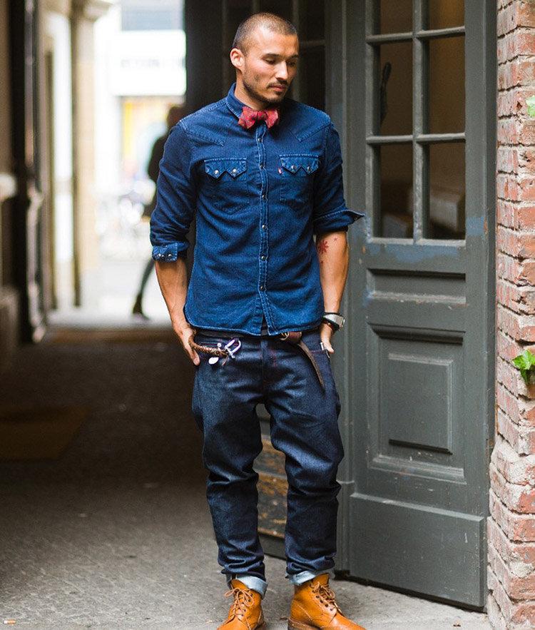с чем носить мужские высокие ботинки мариупольский