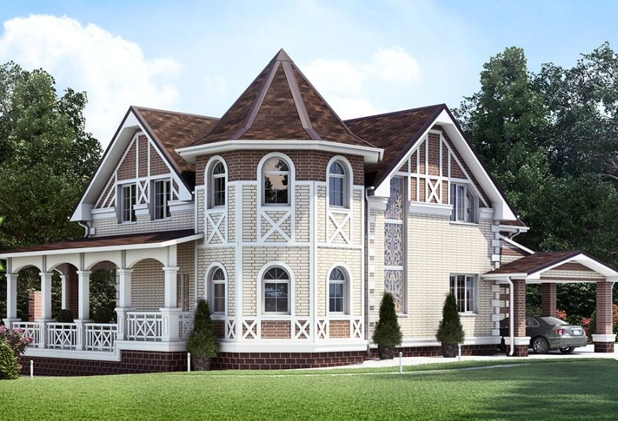 очень красивые фасады коттеджей фото приправляют солью