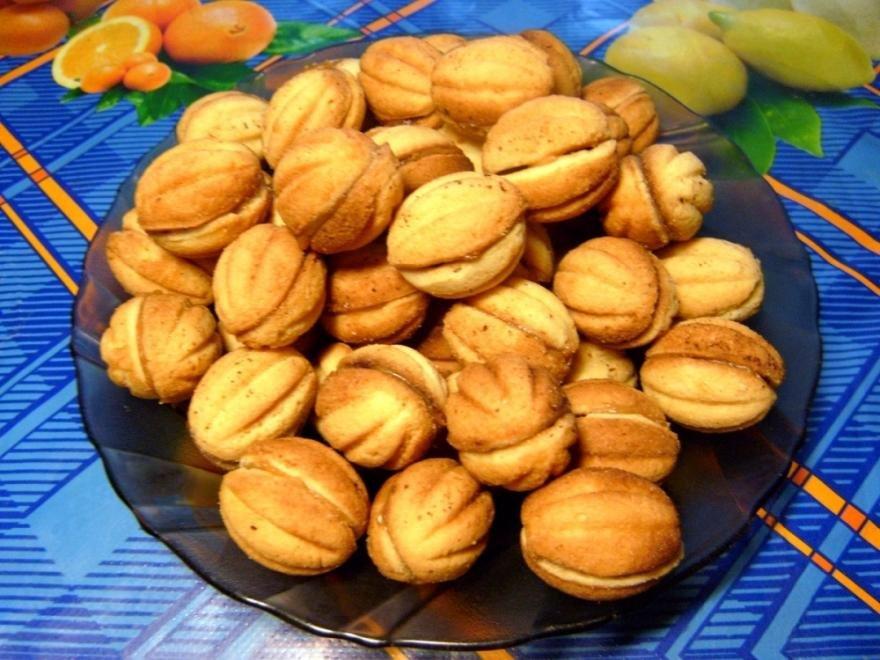 как приготовить печенье орешки с вареной сгущенкой чтобы было мягкое