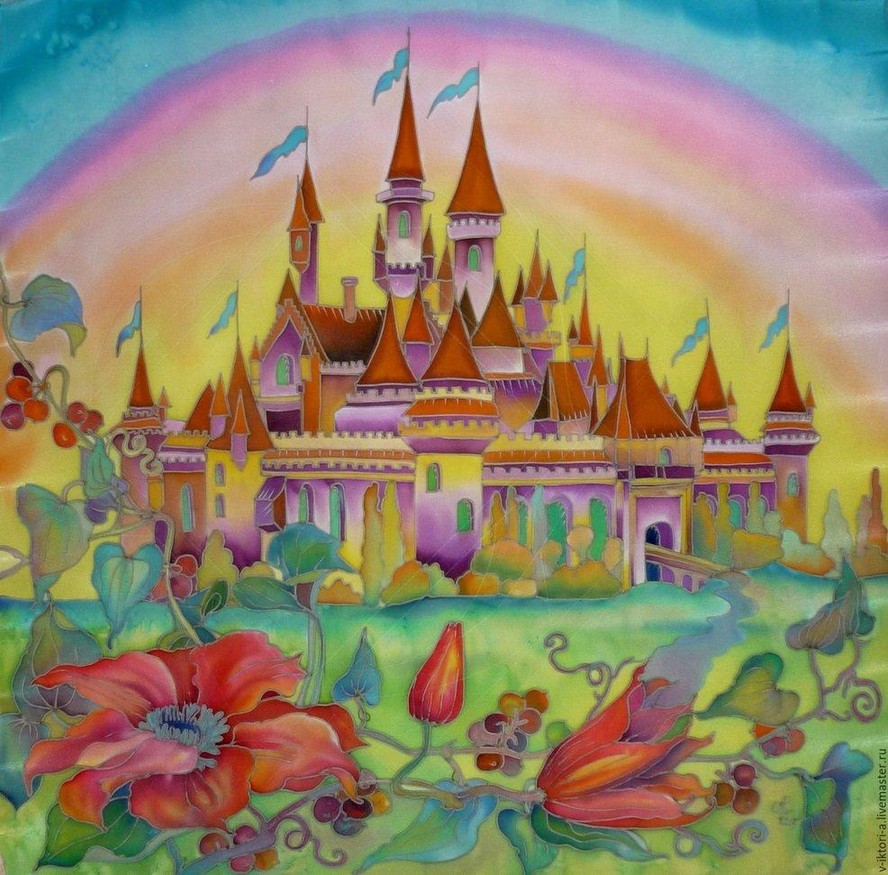 Картинка для детей сказочный замок