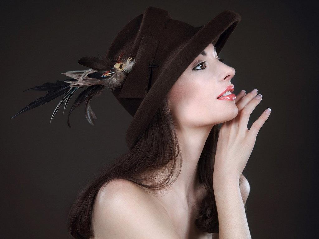 Красивые дамы в шляпах картинки