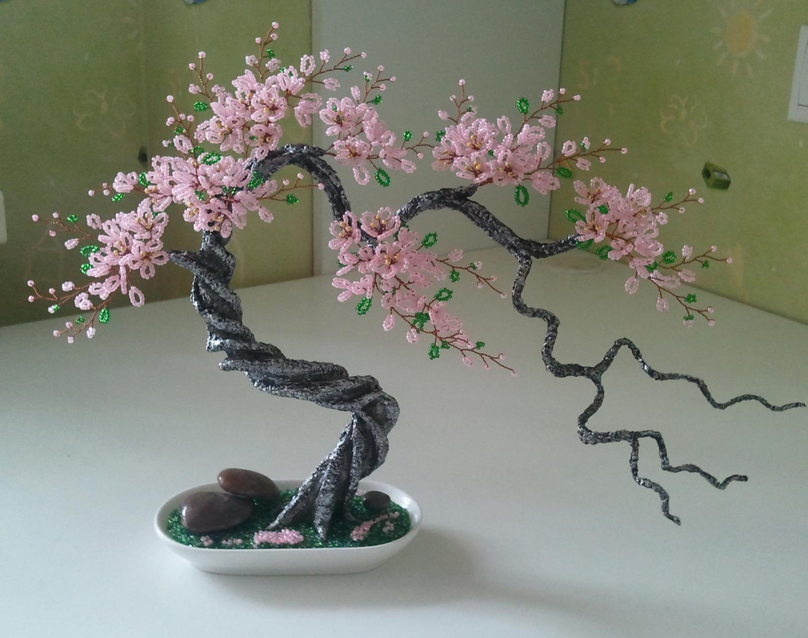 Дерево счастья из бисера своими руками фото 825