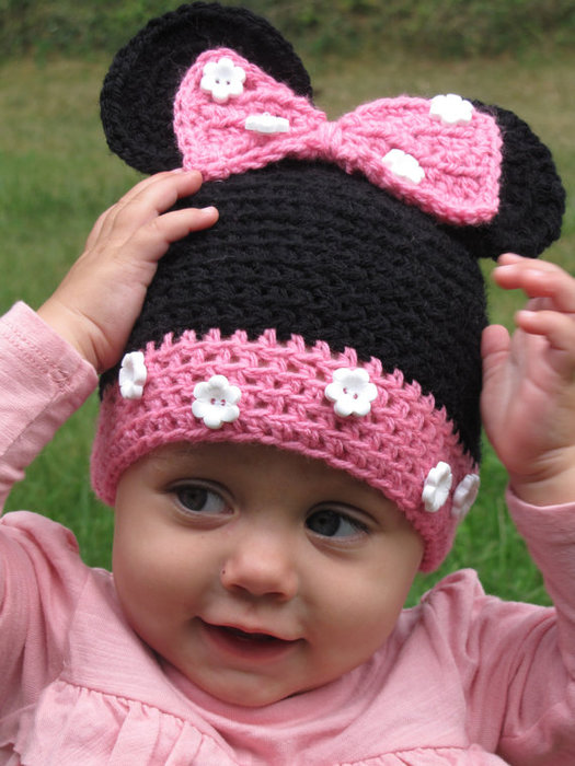 фото шапочки детские крючком