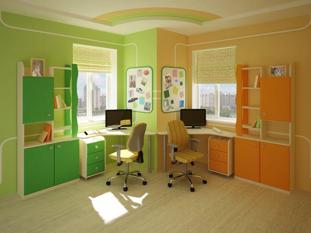"""Детская комната для двоих детей: 75 фото идей дизайна"""" - кар."""