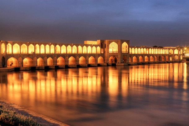 Мост Хаджу (Khaju Bridge), Иран