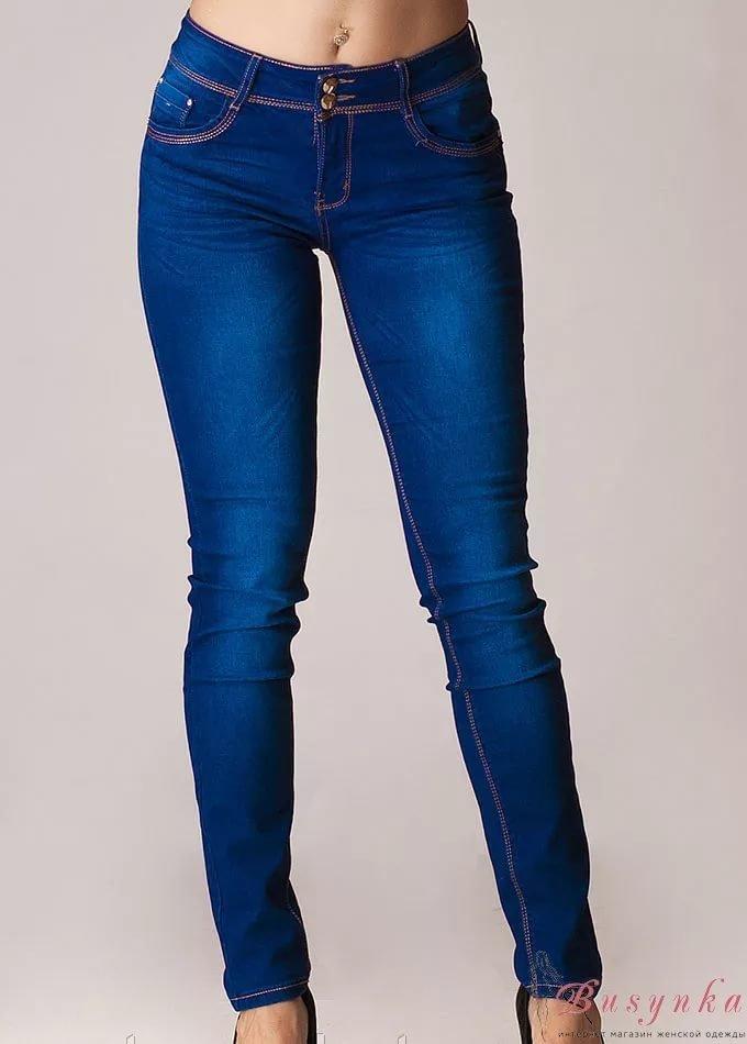 Ярко синие джинсы женские фото