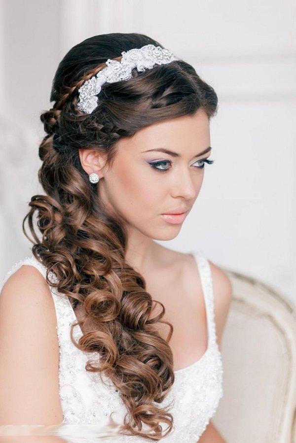 Изящный свадебный макияж .