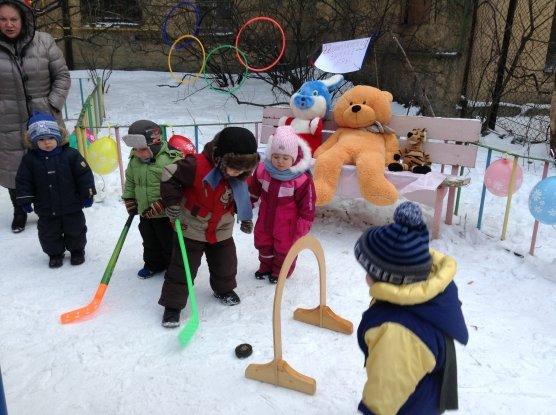 Спортивное развлечение со снеговиком для детей дошкольного возраста