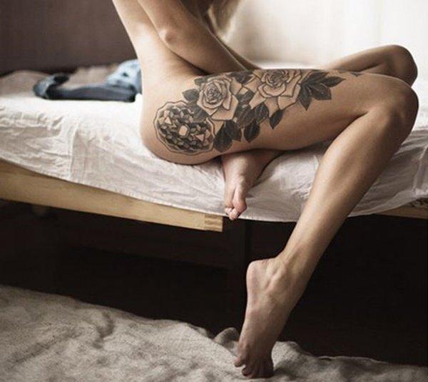 фото сексуальных тату на женских ножках - 7