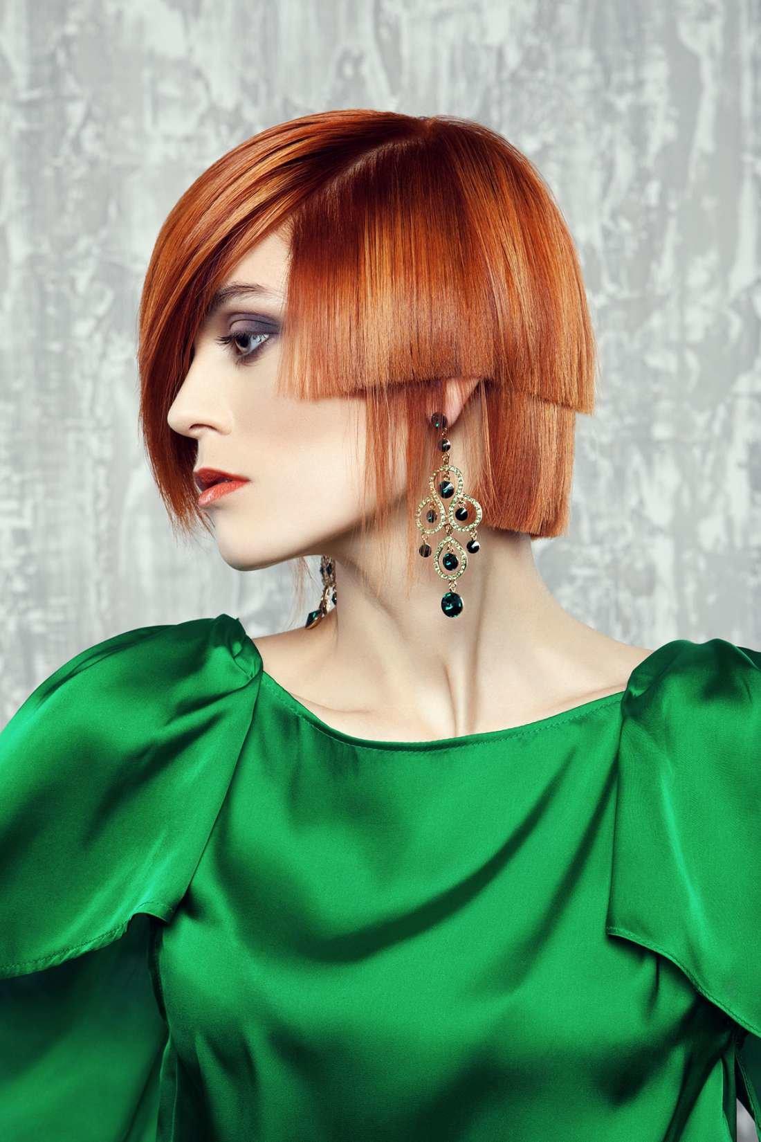 Женские короткие стрижки на рыжие волосы: боб, эльф и пикси.