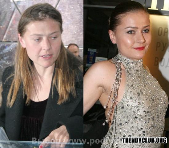 звезды без макияжа русские фото