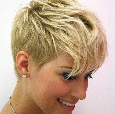 Блондинки стрижки на короткие волосы