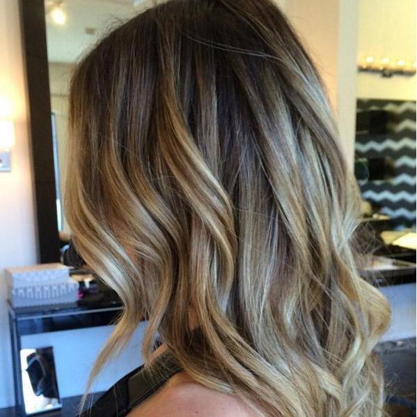 Темно русый цвет волос фото с мелированием