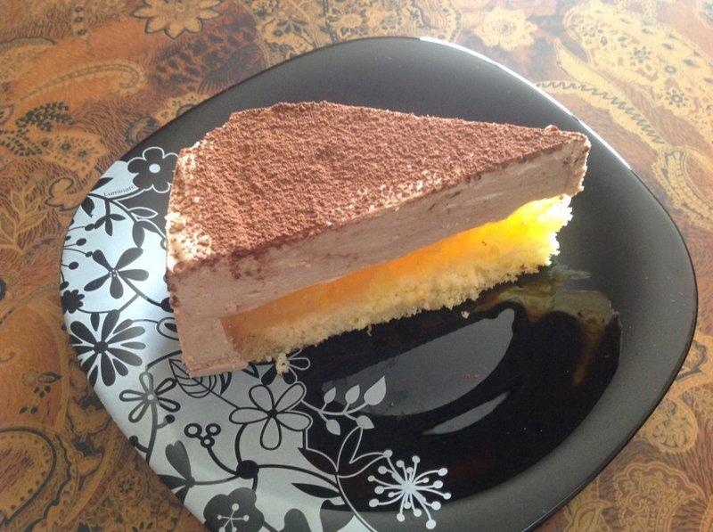"""Торт """"Делиция"""" с апельсиновым желе"""