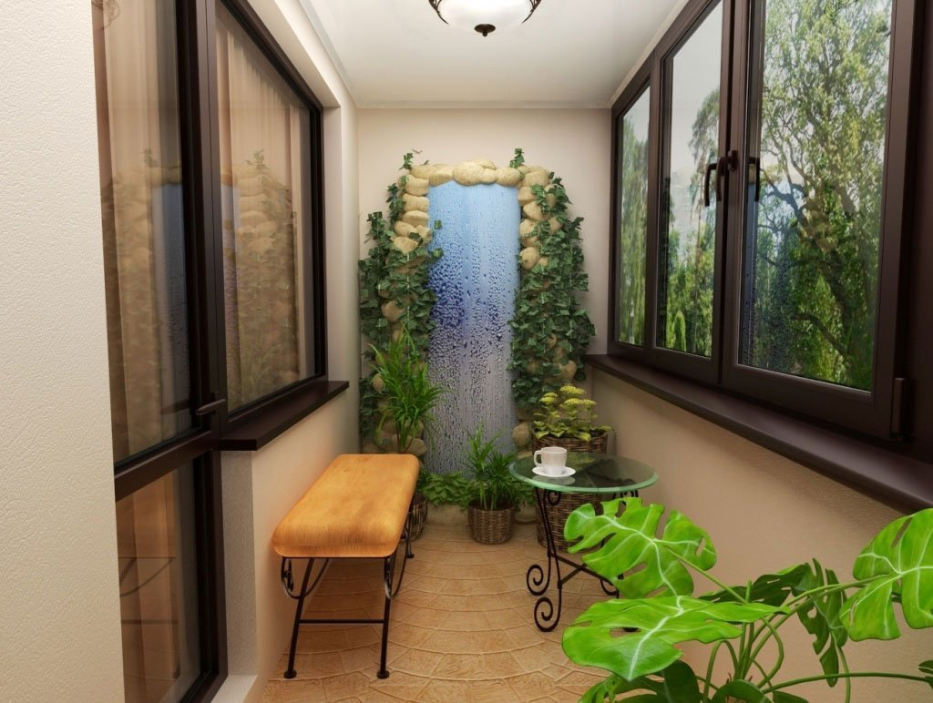 Зимний сад на лоджии не только украшает жилище, но и помогае.
