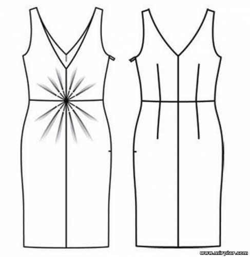 7344ec9dbdf ... выкройка платья
