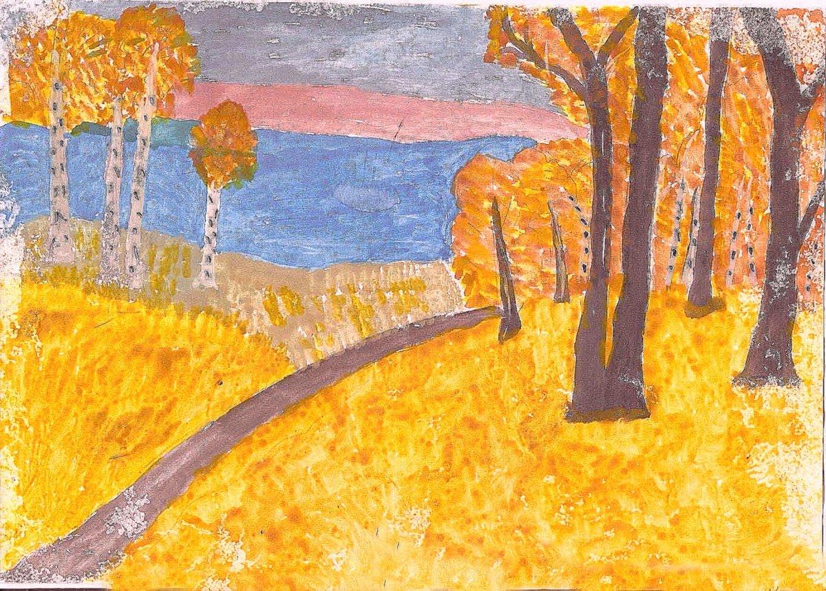 Картинка осень золотая рисунок