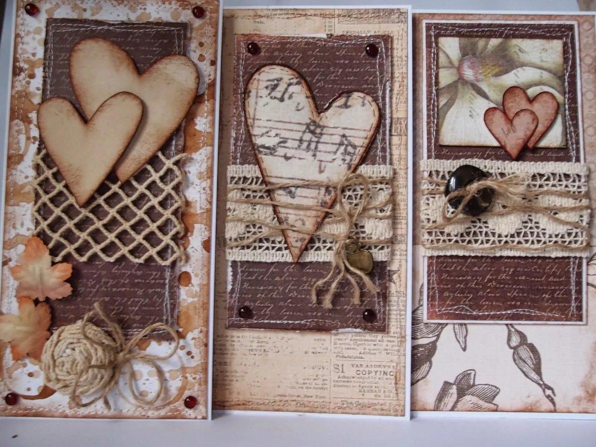 Скрапбукинг открытки с рисунками