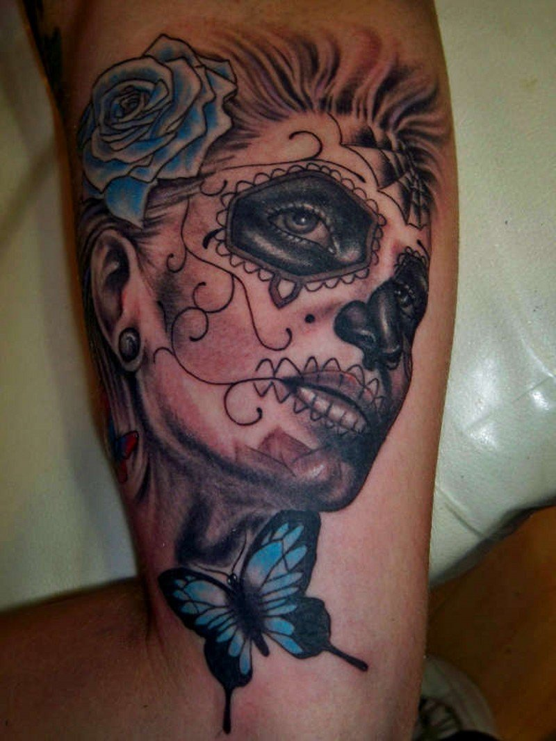 60 day of the dead tattoos you will want to get asap - HD800×1066
