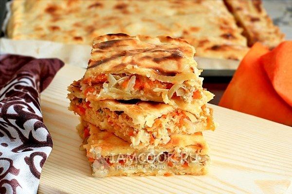 Проверенный рецепт приготовления пирога с тыквой и мясом, шаг за шагом с фотографиями.