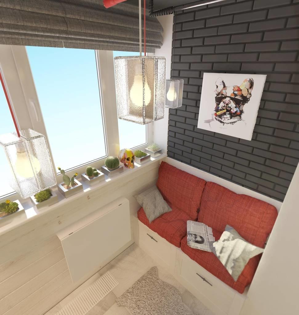 """Дизайн утепленного балкона лофт"""" - карточка пользователя kuz."""