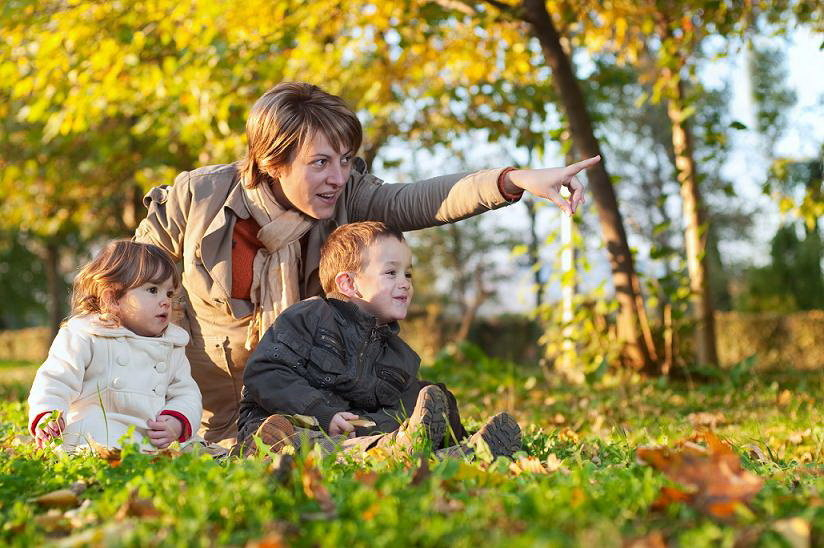 фото прогулка с детьми более
