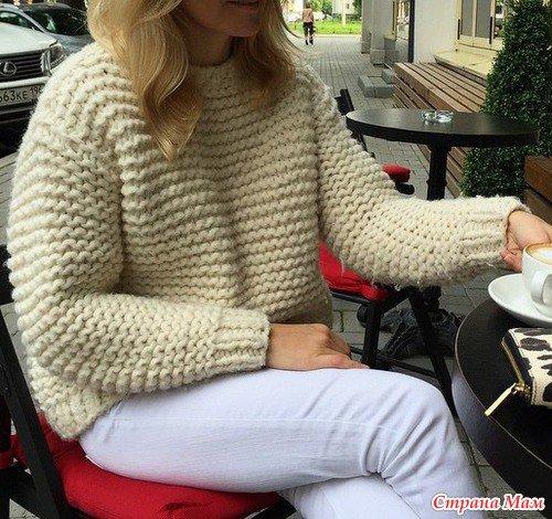 надевают колготки вязать объемный свитер спицами того, что