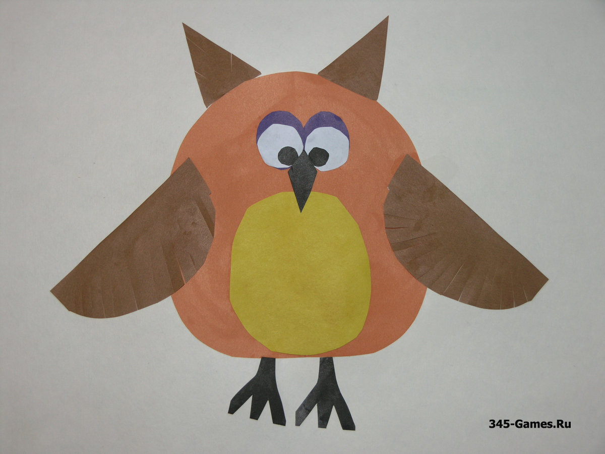 Рисунки из картона и цветной бумаги