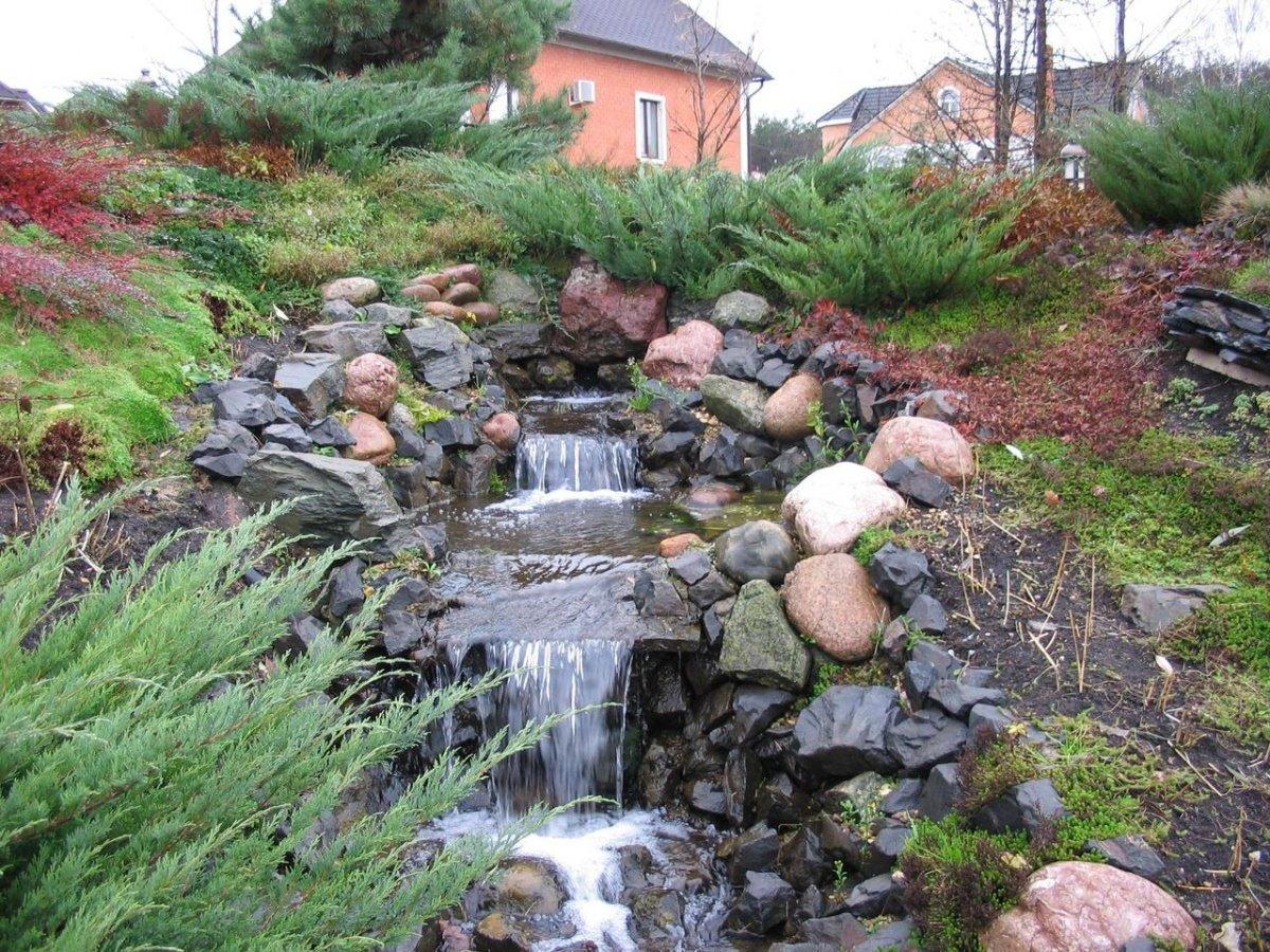 Ручей в саду своими руками фото 542