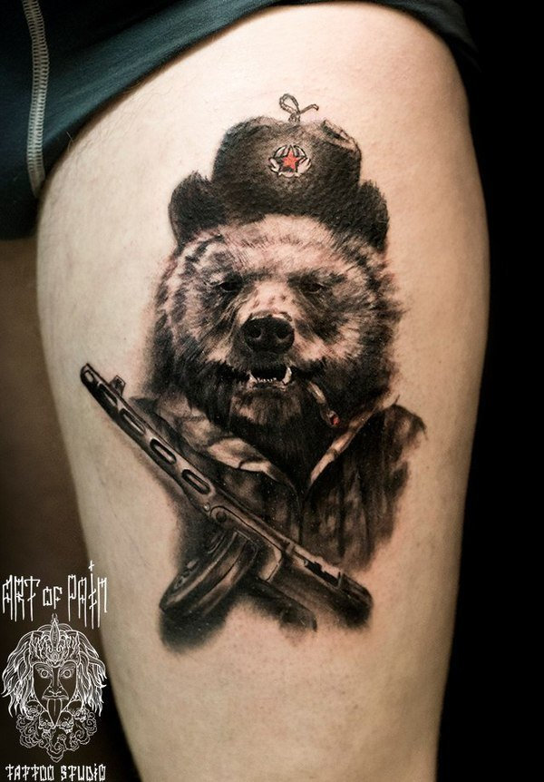 картинок регулярно тату медведь в шапке для Вас