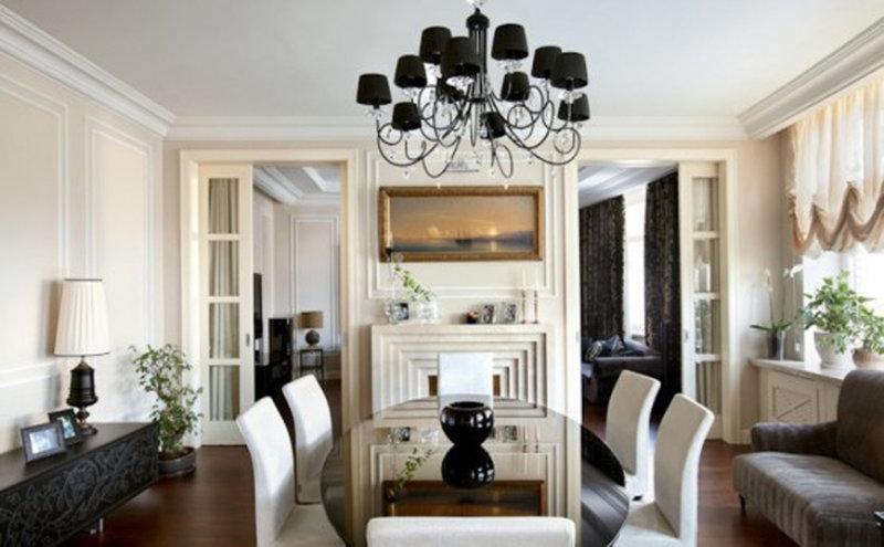 интерьер арт деко гостиная фото с балконом » Улетный дизайн
