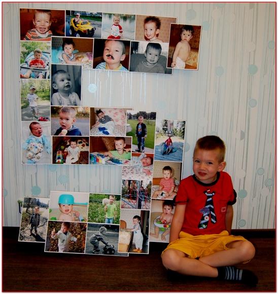 Коллаж фотографий своими руками на годик