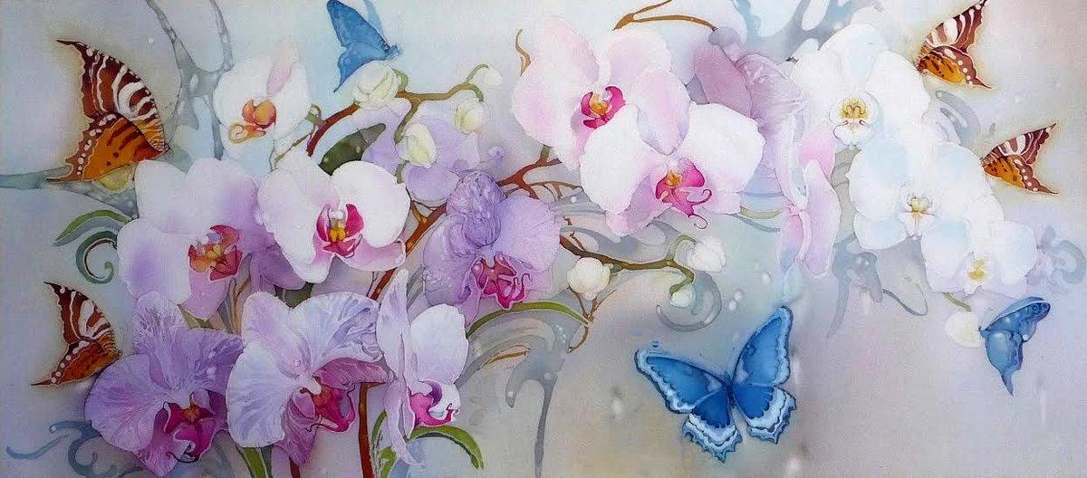 Орхидеи для декупажа картинки