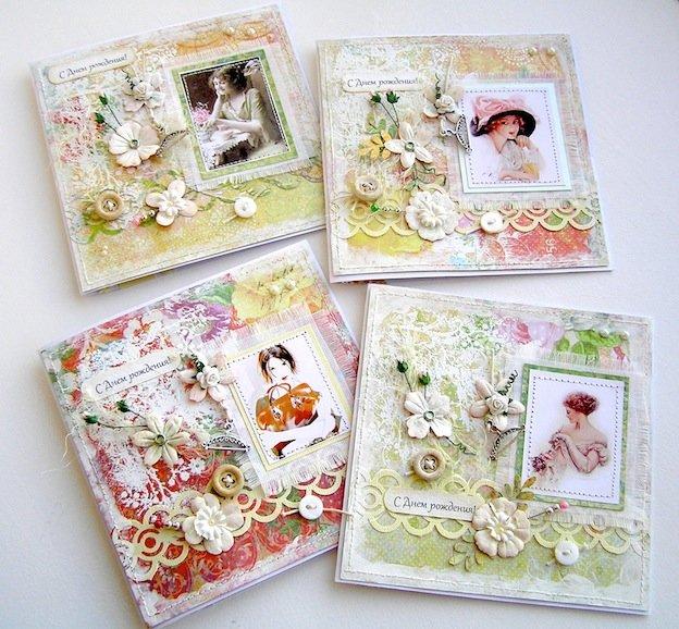 Скрапбукинг открытки с днем рождения идеи фото, открытки февраля