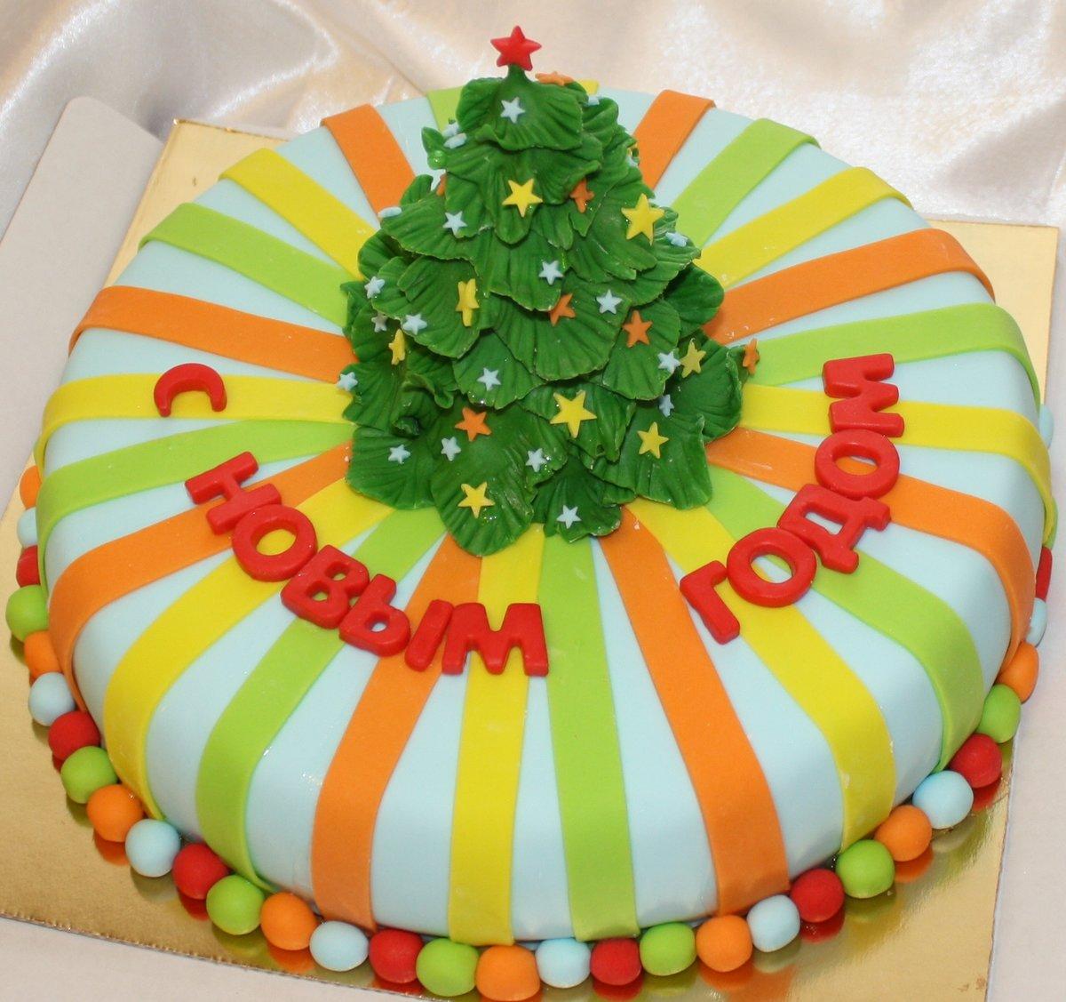 наиболее торт из мастики елка фото замена