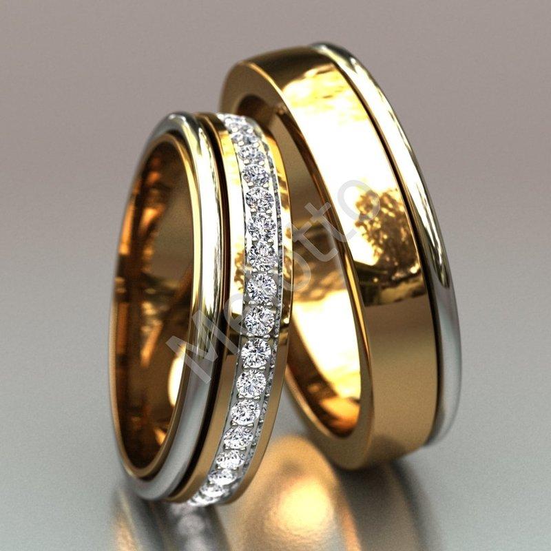 кольца с камнями обручальные фото