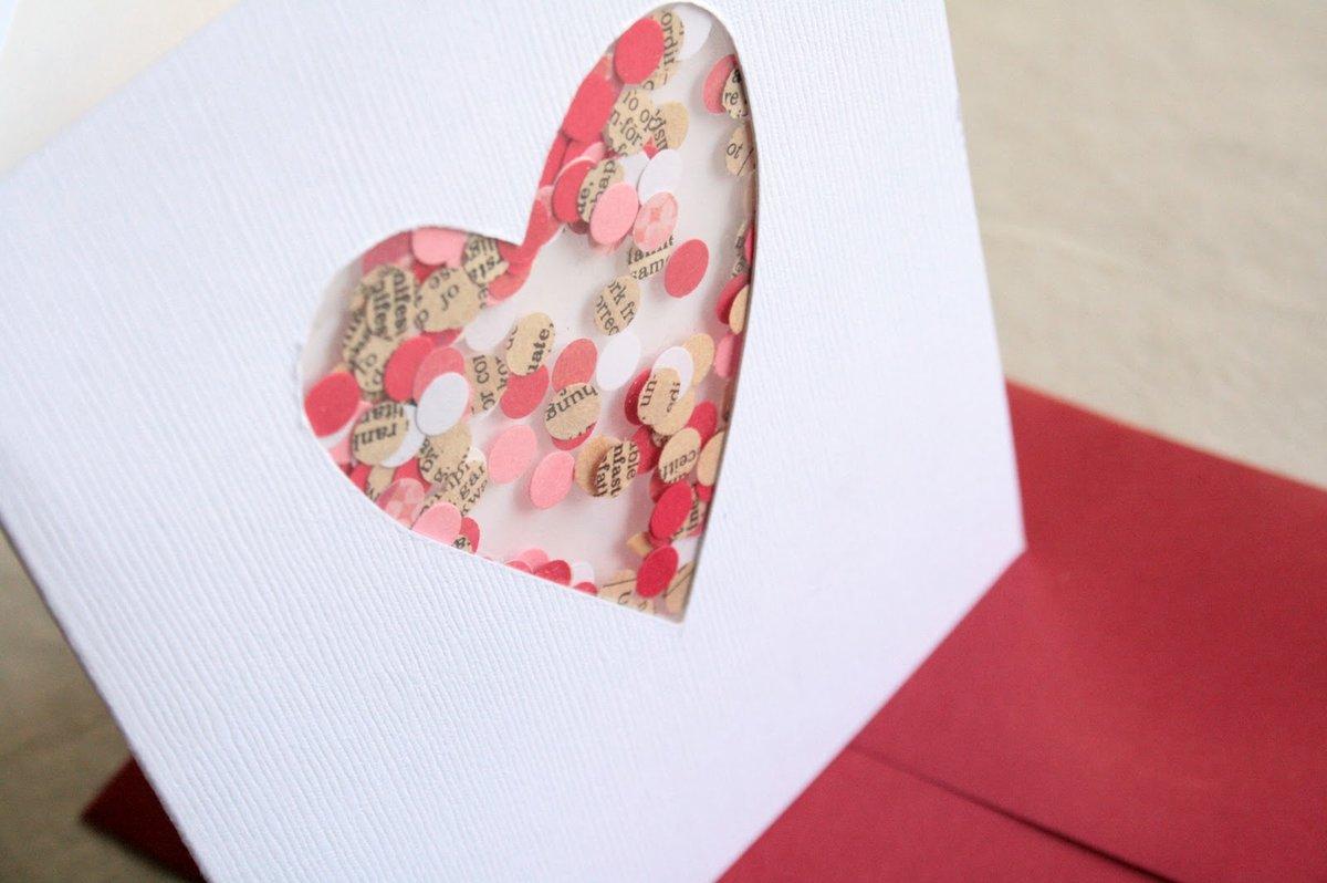 Открытку, красивая и простая открытка из бумаги