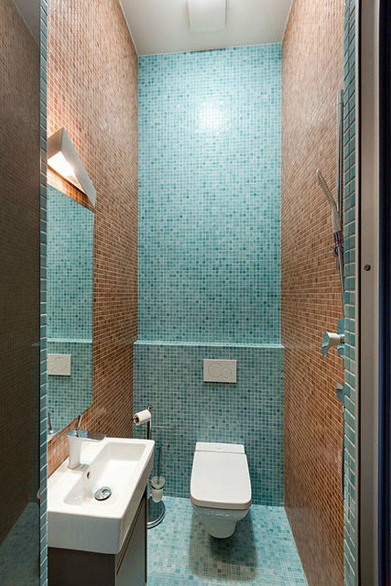 над плитка для туалета бирюзовая с коричневым Стирка