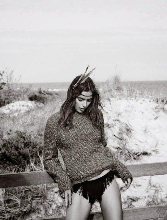 фотосессия в образе девушки - индейца