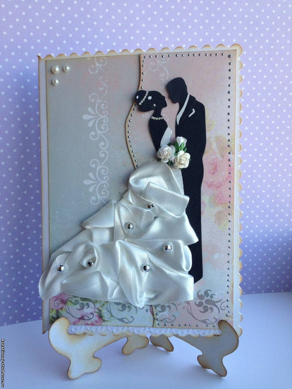 Свадебная открытка своими руками на свадьбу, картинках