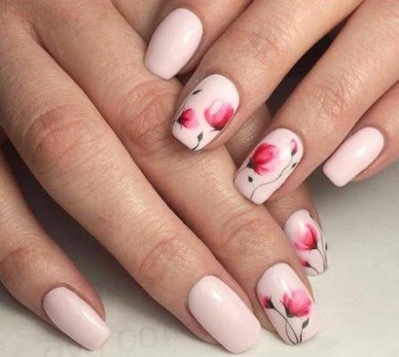 Дизайн ногтей цветы 2017 фото новинки лето