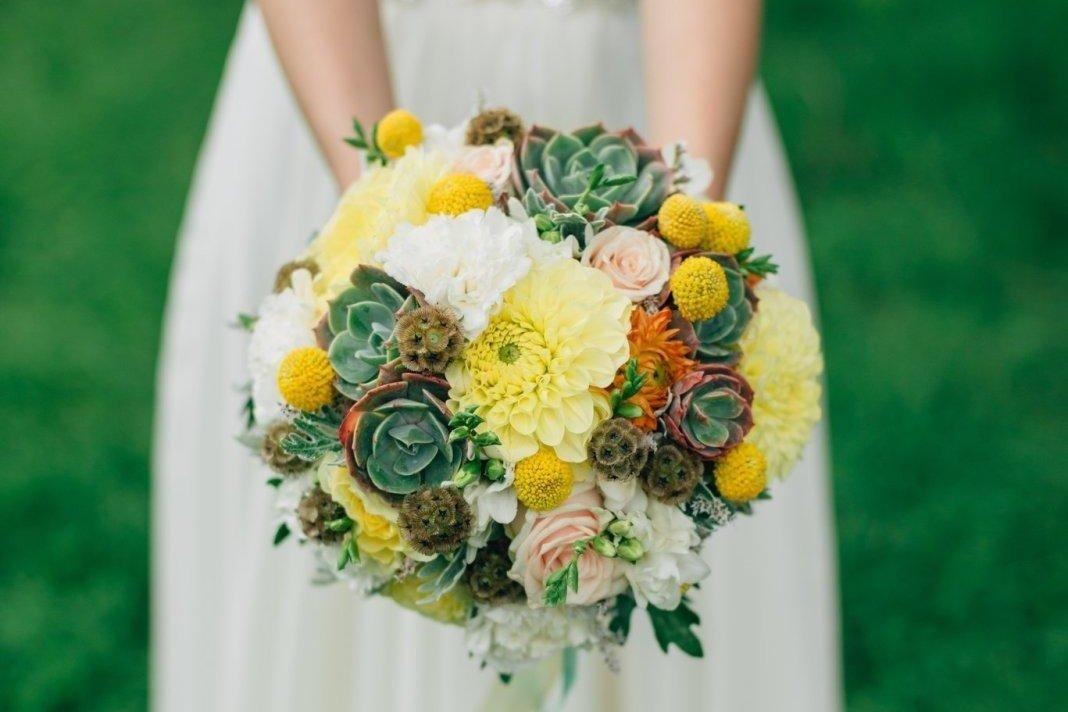Сочетание цветов в букете невесты, магазин цветов