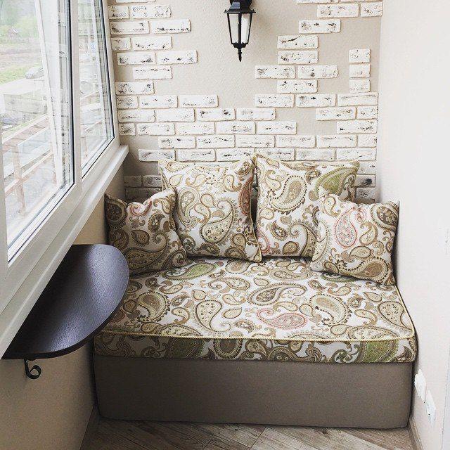 маленький диван на балкон или угловой диван на лоджию легко