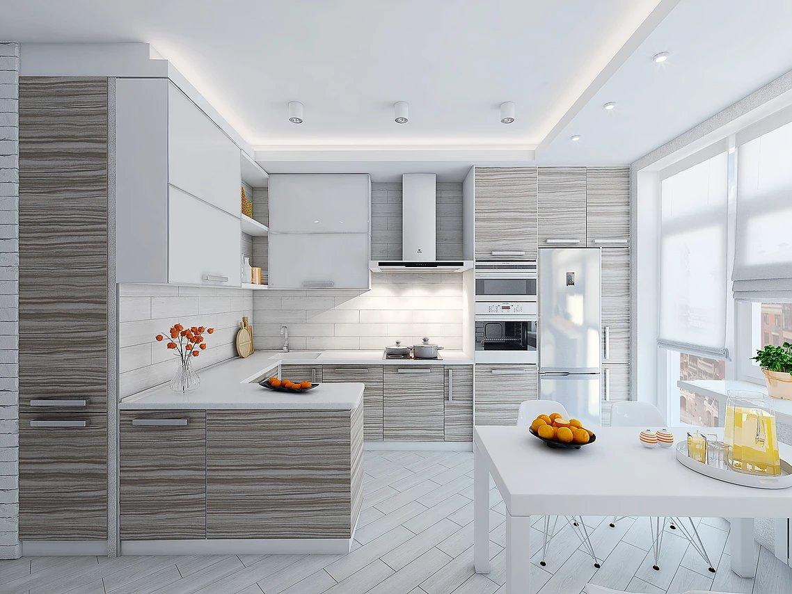 дизайн светлых кухни картинки