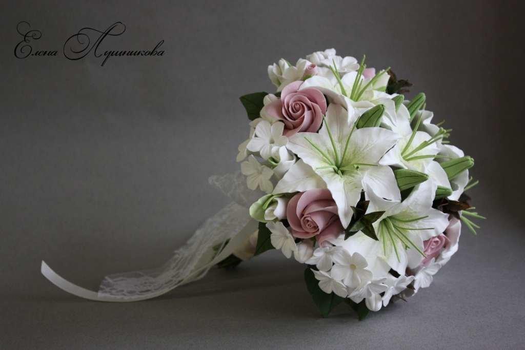Цветы, розы лилии свадебный букеты
