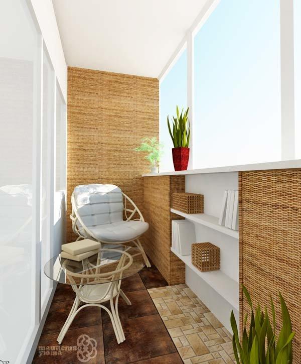 """Стеклянный столик на балконе для уютного отдыха"""" - карточка ."""