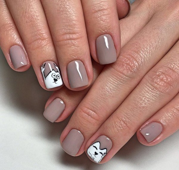 красивый рисунок на ногтях фото
