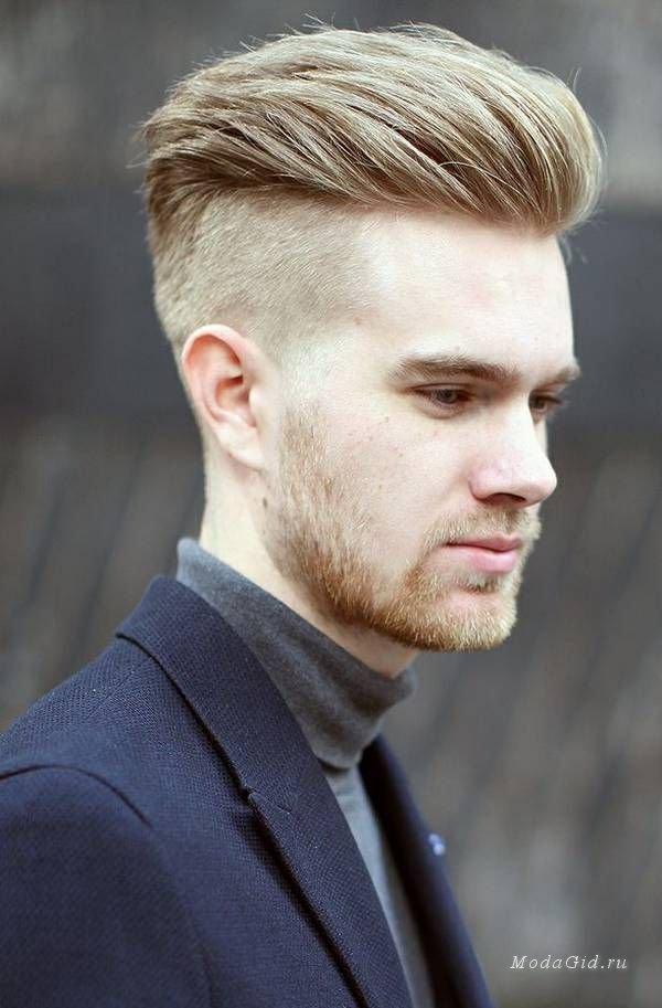 Андеркат мужская стрижка для светлых волос.
