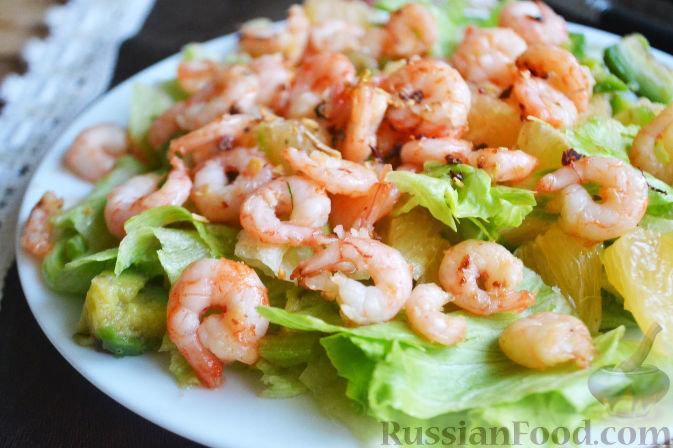 Нежный и вкусный салат с креветками